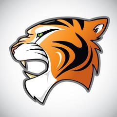 Tiger head - cartoon illustration