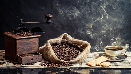 Wall Mural - Fragrance of vintage brewing coffee