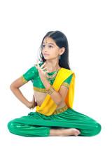 little girl Indian dancer