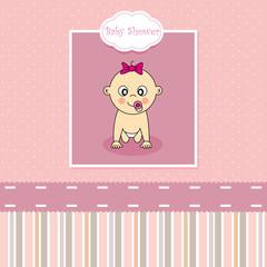 Tarjeta nacimiento bebe niña