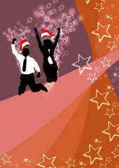 Office christmas party background