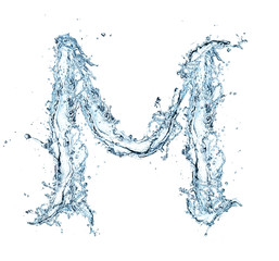 Letter of water alphabet