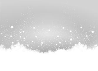 Wall Mural - Grey Christmas Background