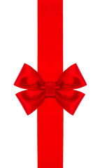 red satin gift ribbon bow