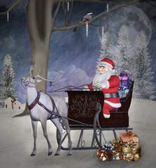 Vintage christmas illustration