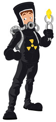 Uranium - Vector Character Illustration