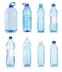 Collage of water bottles