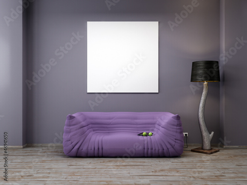 leere leinwand im industrie loft 3d stockfotos und. Black Bedroom Furniture Sets. Home Design Ideas