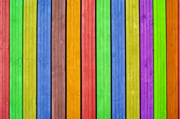 Kolorowe deski pionowo, tło.