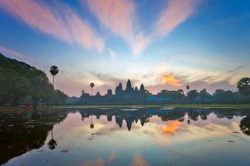 sunrise at angkor wat temple, cambodia