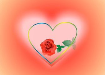 serce i róża