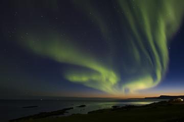 Foto auf Acrylglas Arktis Luces del norte, Aurora Boreal en Islancia