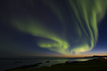 Printed roller blinds Pole Luces del norte, Aurora Boreal en Islancia
