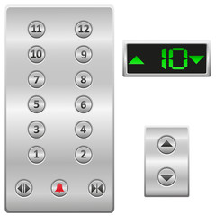 elevator buttons panel illustration