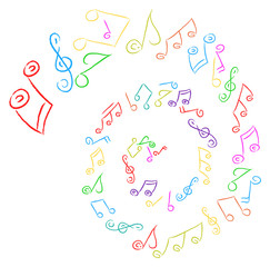 vector colorful music note illustration