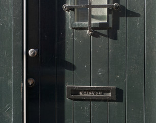 letter box in door
