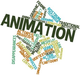 Word cloud for Animation