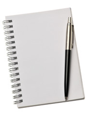 Blank note paper  pencil