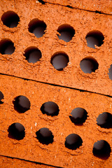 Close up of bricks