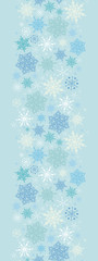 Vector Subtle Snowflake Texture Vertical Seamless Pattern