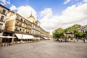 Plaza mayo. Segovia main square, Castilla y Leon, Spain