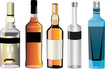Taste of different alcohol