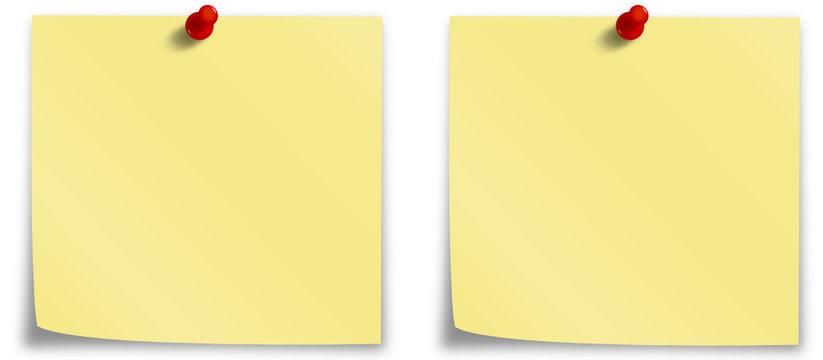 Blätter in Gelb mit Pin