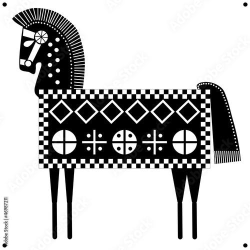 Cavallo Sardo Stilizzato Su Bianco Immagini E Vettoriali
