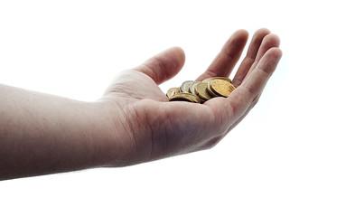 ręka pieniędzy