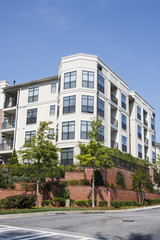Condo Building with Large Bay Windows