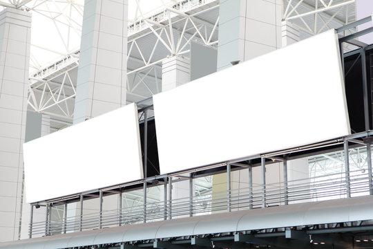 two huge Blank Billboard