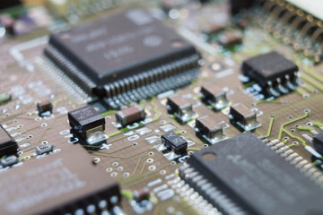 Electronic circuit chip on board