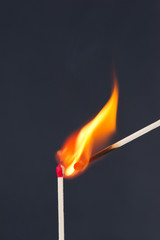 Matches igniting