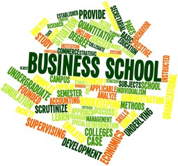 Word cloud for Business school