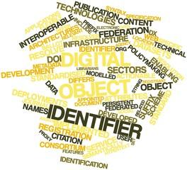 Word cloud for Digital object identifier