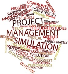 Word cloud for Project management simulation