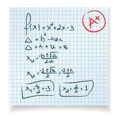Math test and exam