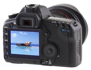 piscine sur écran appareil photo