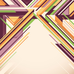 Geometric abstraction with colorful shapes.