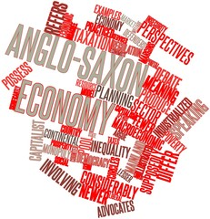 Word cloud for Anglo-Saxon economy