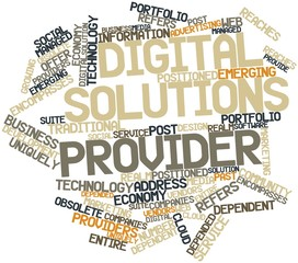 Word cloud for Digital solutions provider