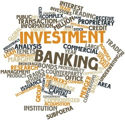 Word cloud for Investment banking