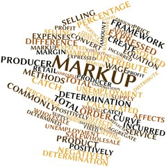 Word cloud for Markup