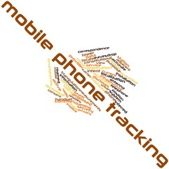 Word cloud for Mobile phone tracking