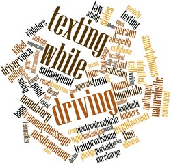 Word cloud for Texting while driving