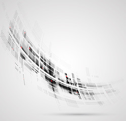 Abstract bright technology dynamic fade background