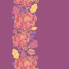Vector magical flowers elegant vertical seamless pattern on