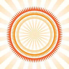 Stylized sunflower vector  image