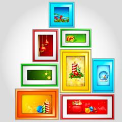 Colorful Christmas Photoframe