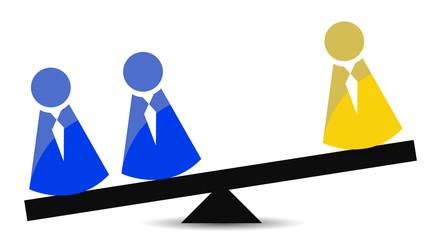 teamwork concept balance